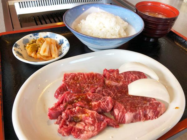 02牛サガリ定食(1200円)
