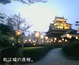 夜の松江城。