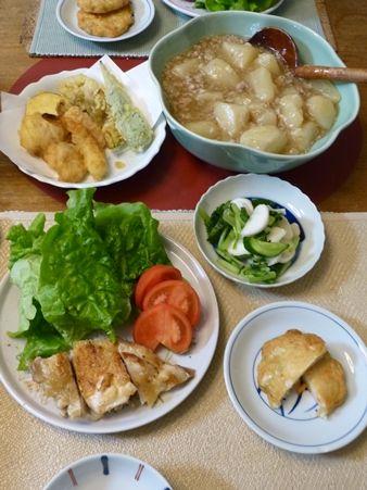 20161123おじいちゃんのバラ05晩御飯
