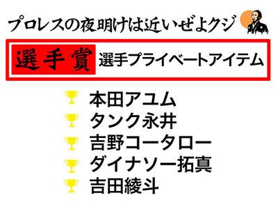 K-DOJOくじ選手賞
