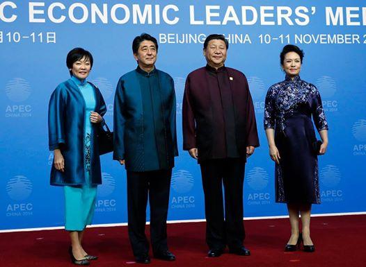 「安倍 首相 習近平 の中国服」の画像検索結果