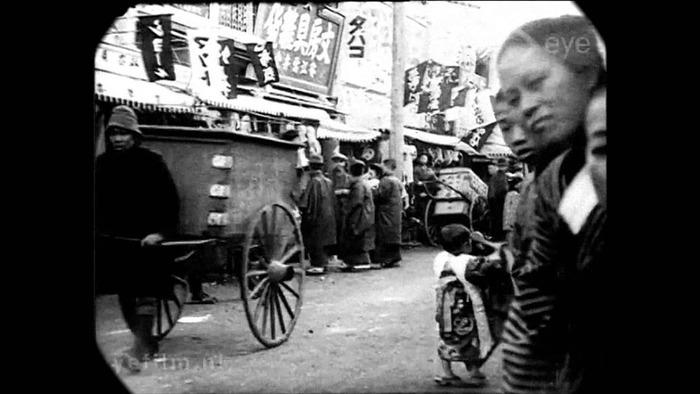 100年前に撮影された東京の動画(海外の反応)
