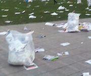韓国人「デモの後のソウル市庁前をご覧ください」