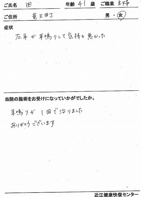 s-耳鳴り 竜王 田