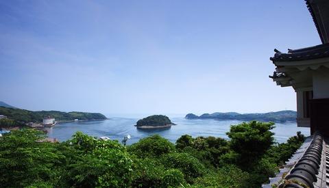平戸城天守閣からの眺め