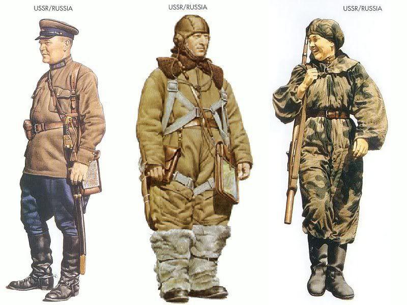 01266 ソビエト連邦|ソビエト連邦|ソビエト連邦  韓国人「第二次世界大戦参戦国の軍服を見て