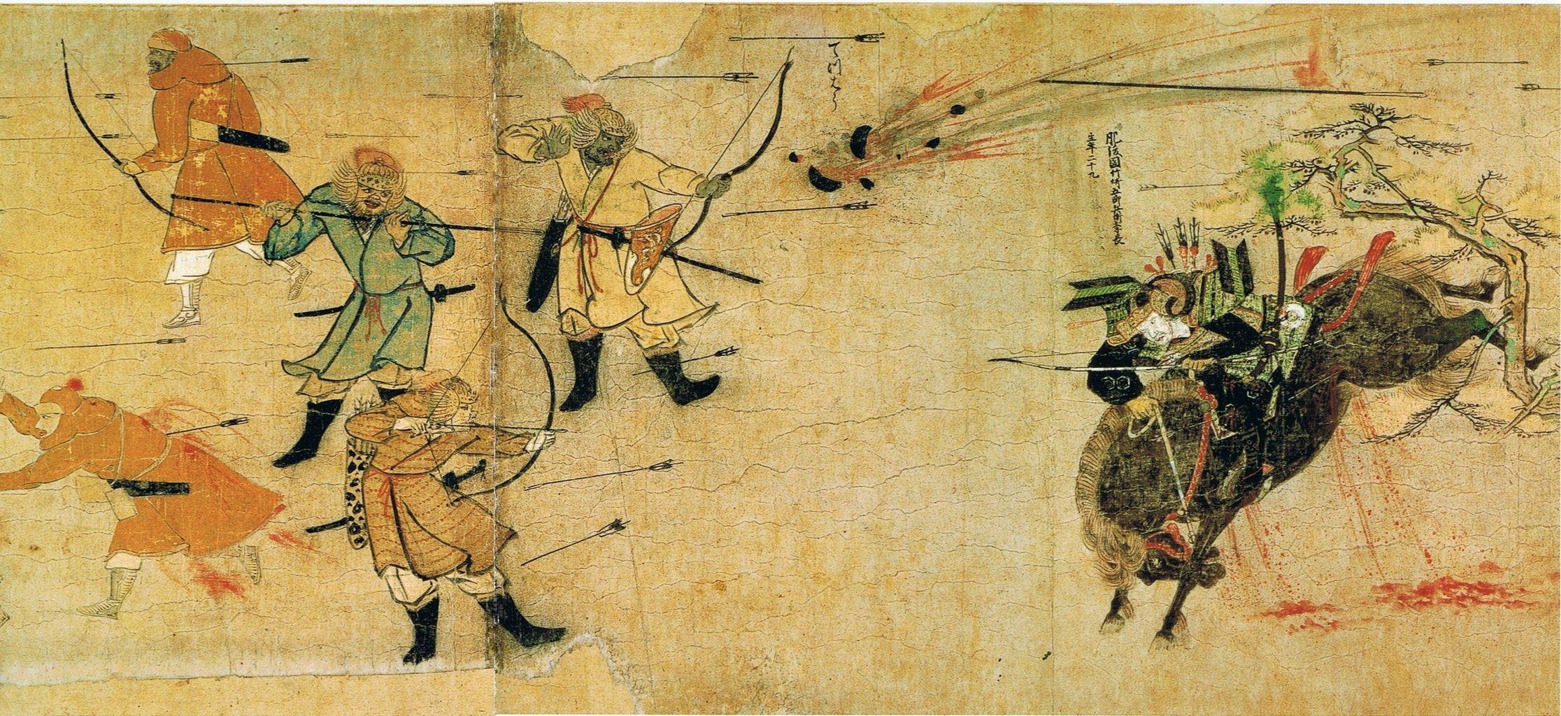 【間抜け】 日本軍が「やあやあ我こそは~」と呑気に名乗ってる隙に、モンゴル軍は弓矢を放った