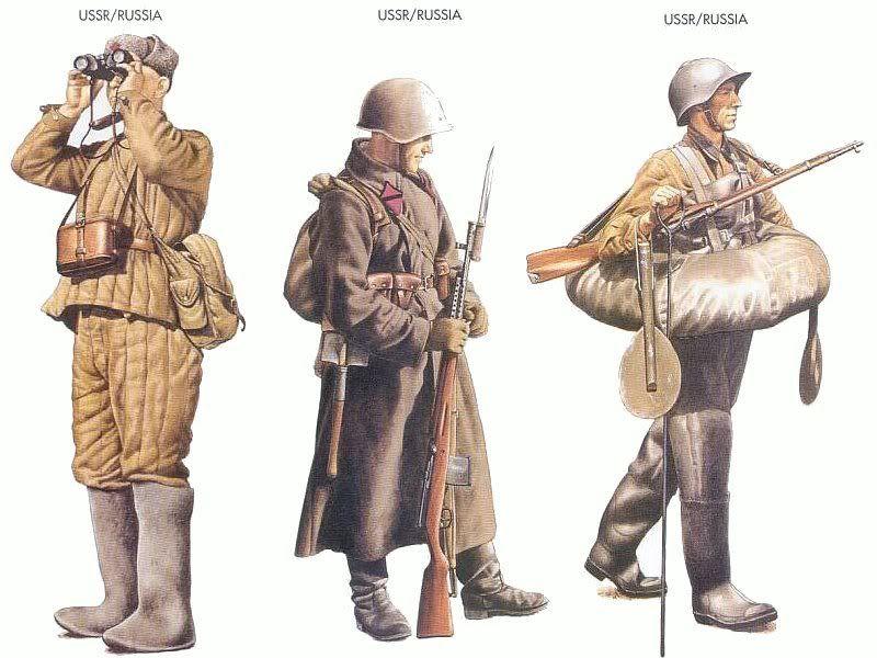 01265 ソビエト連邦|ソビエト連邦|ソビエト連邦  韓国人「第二次世界大戦参戦国の軍服を見て