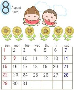カレンダー(8月) sozai_image_181449