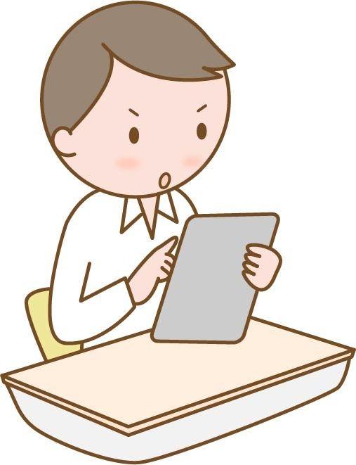 タブレット学習4(男子学生)