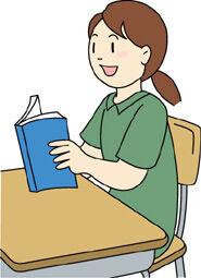 教科書を読む小学生2