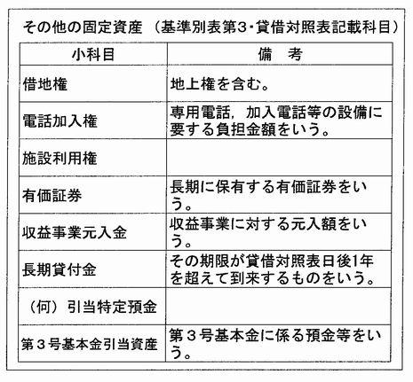 その他の固定資産(表)
