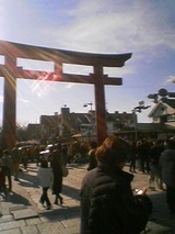 2007Jan7八幡宮前信号のところ