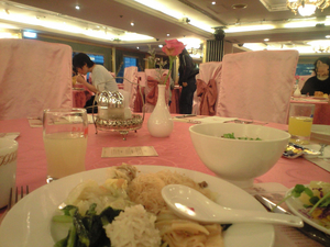 2009年12月20日コスモスホテル食堂