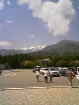 2007May4途中のサービスエリアの山々