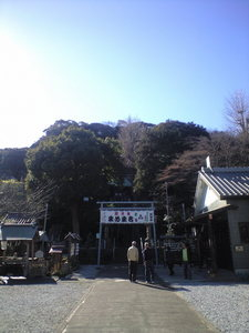 2010年1月24日走水神社(遠景)