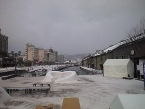 2010年2月9日小樽運河昼間