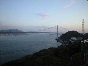2010年6月2日関門大橋(下関より)