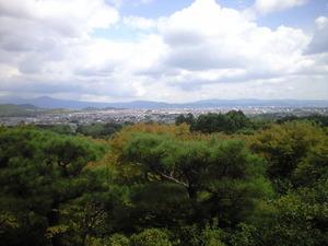 2010年9月16日大河内山荘から京都市街