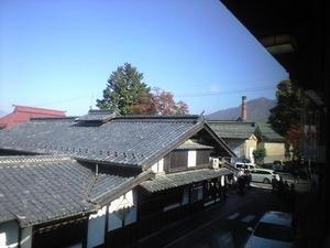 2010年11月7日竹風堂二階より
