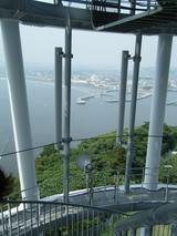 2009年6月25日展望台の外階段を下る