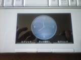 2009年7月30日メビウスタッチパッドの時計