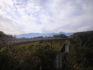2010年11月7日大橋から南アルプス