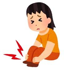 足首痛というけどシモヤケに使用
