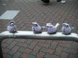 2009年6月25日江ノ島駅のスズメオブジェ