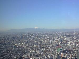 2011年1月18日都庁から富士山