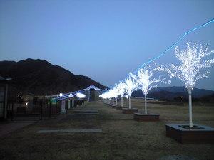 2009年12月7日談合坂SAのイルミネーション