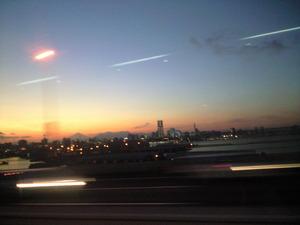 2011年1月18日夕暮れの富士山