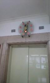 2008Aug20松坂屋エレベーター上時計