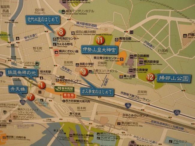 現在の桜木町MAP