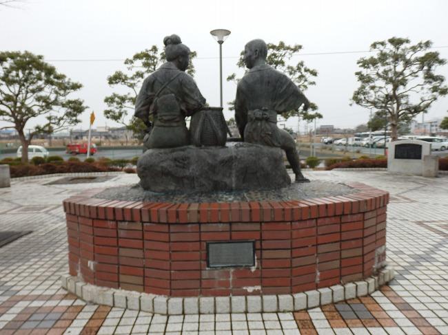 伊藤左千夫記念公園の政夫と民子像2
