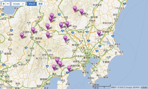 関東近郊のヒルクライムリスト
