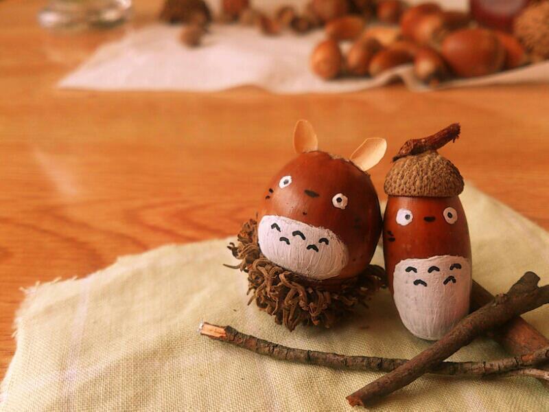 カイパパ通信blog☆自閉症スペクタクル : ちいさい秋みつけた : どこか懐かしい。どんぐりアート - NAVER まとめ