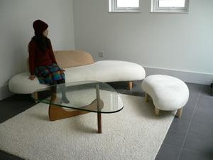 フリーフォームソファ&ノグチテーブル