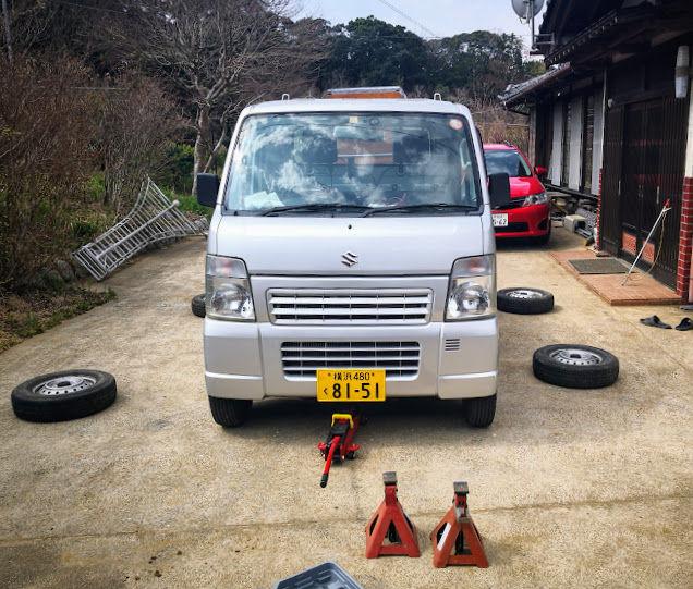 0330軽トラタイヤ交換