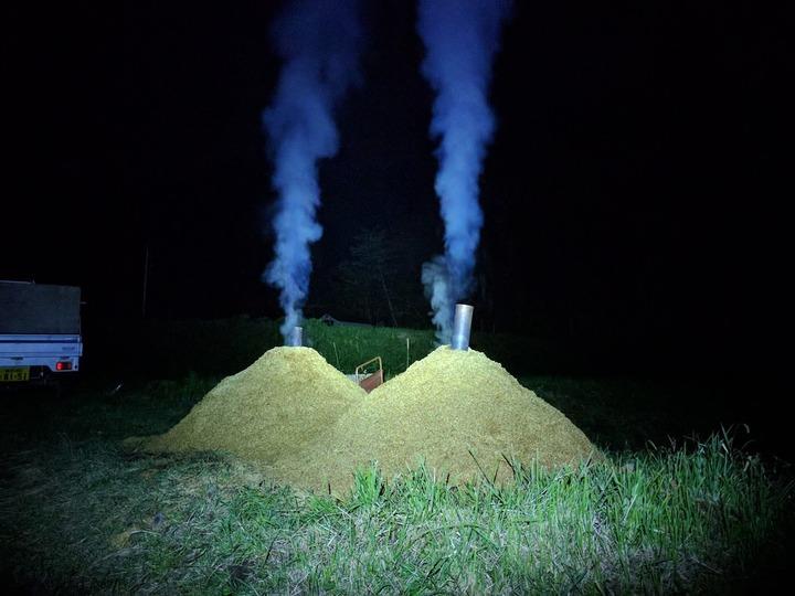 1104燻炭作り