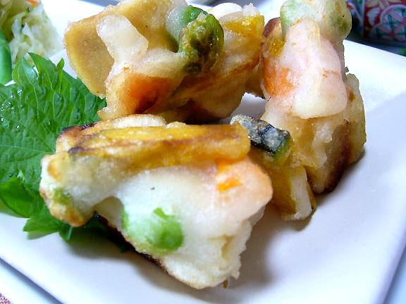 高野豆腐のカリッと揚げ焼き→外側がカリカリで美味しいよ