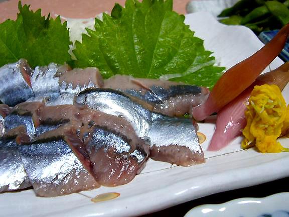 秋刀魚のお刺身→脂がのって美味しい秋刀魚でしたよ