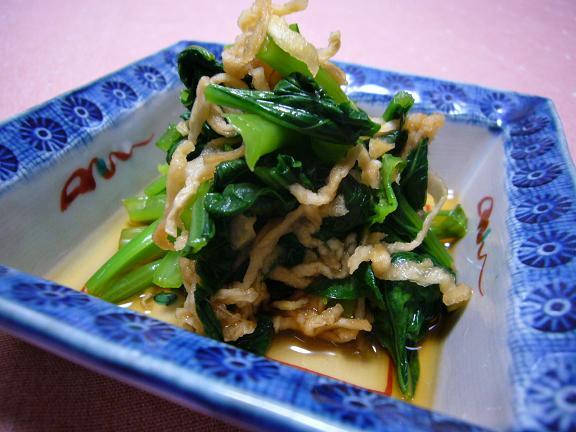 小松菜と切干の浸し→切干の歯ごたえが好きなのよね