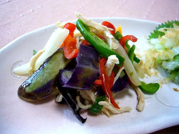 野菜の柚子胡椒炒め→柚子胡椒って便利よね、これだけで美味しいの