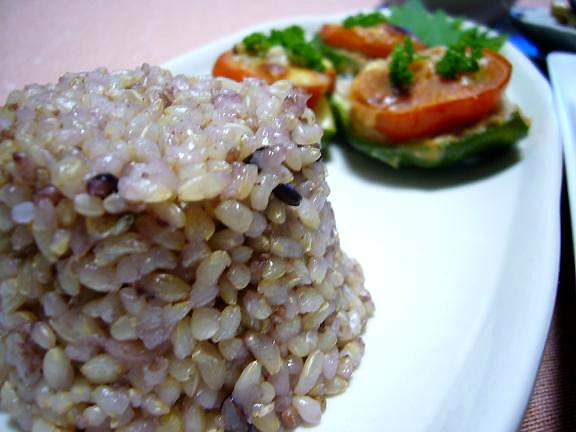 玄米+五穀米+古代米→1枚足りないので撮っちゃった