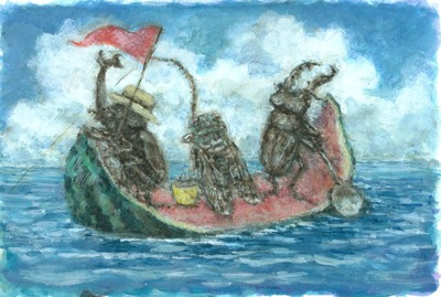 西瓜のボート