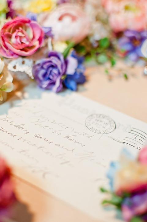 ブログ用 花と手紙と