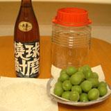 球磨焼酎で漬ける梅酒材料