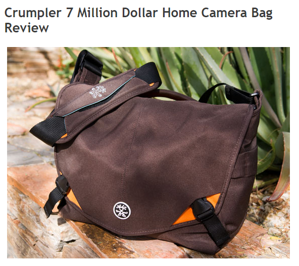 キャプチャ Crumpler 7 Million Dollar Home Camera Bag