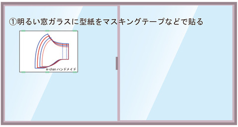 型紙窓ガラスで写す型紙画像002